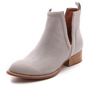 Jeffrey Campbell leather Muscrat booties in gray